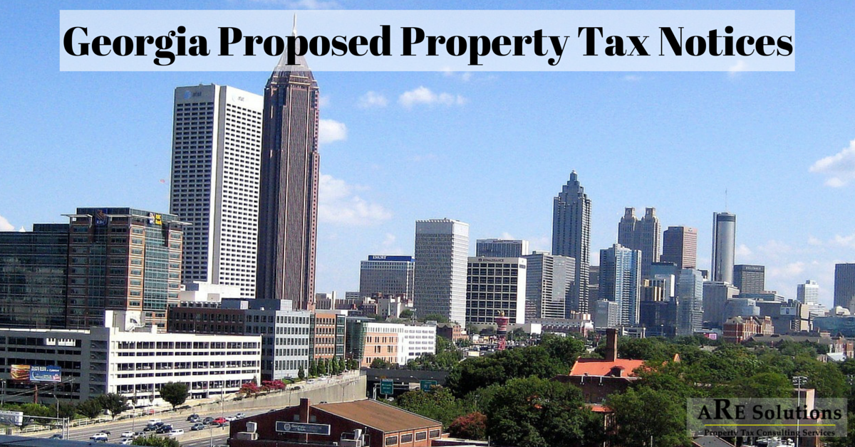 Georgia Proposed Property Tax Notices 2016